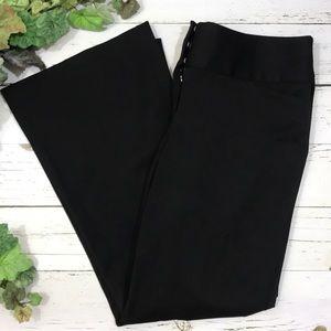 Express Black Editor Wide Leg Pants Trousers 10S